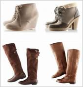 Виды зимней женской обуви большого размера